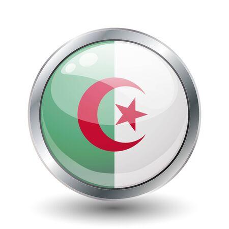 Algeria shiny button flag  photo