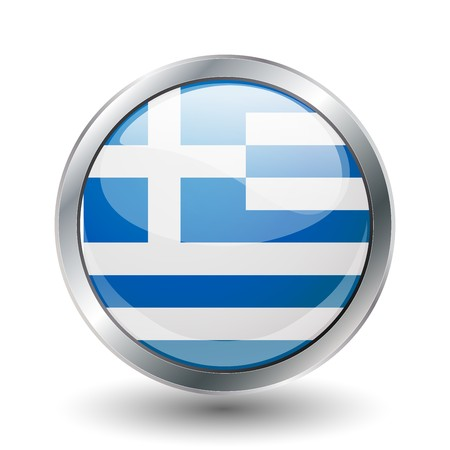 Greece, shiny button flag  photo