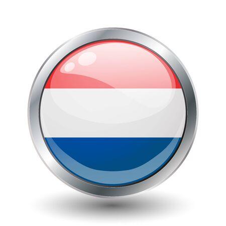 Netherlands, shiny button flag  photo
