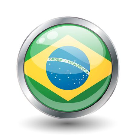 Brazil, shiny button flag  photo