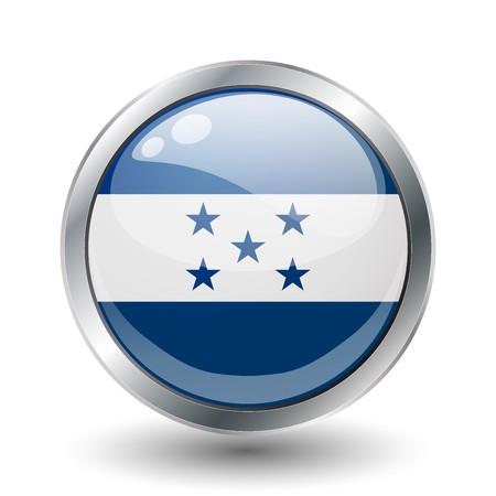 bandera honduras: Honduras, bandera de bot�n brillante