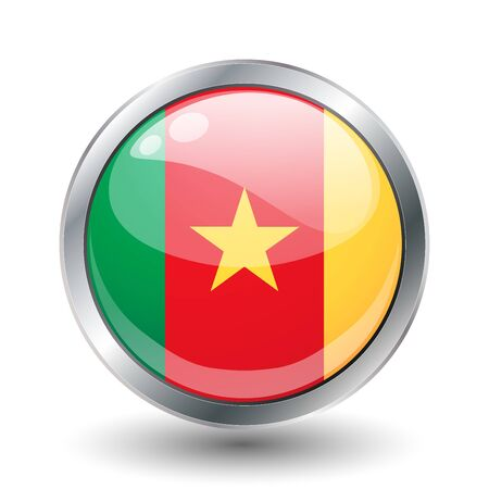 Cameroon, shiny button flag   photo