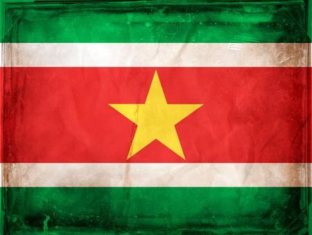 suriname: Grunge vlag series - Suriname