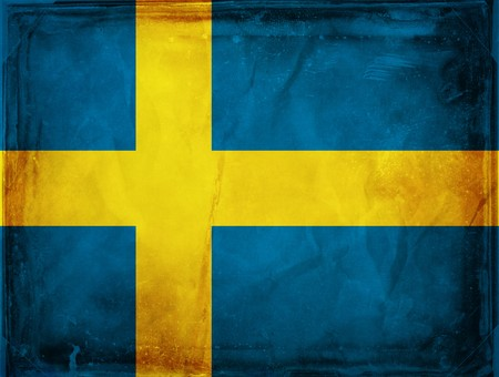 Grunge flag series -  Sweden photo
