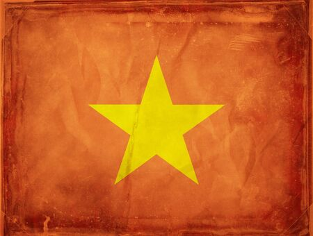 Grunge flag series -  Vietnam photo
