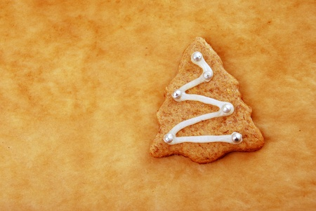 Decorated Christmas cookie close-up photo