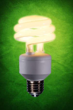 compact fluorescent lightbulb: Energy saving fluorescent light bulb Stock Photo