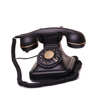 old vintage phone on white  Stock Photo - 8694286