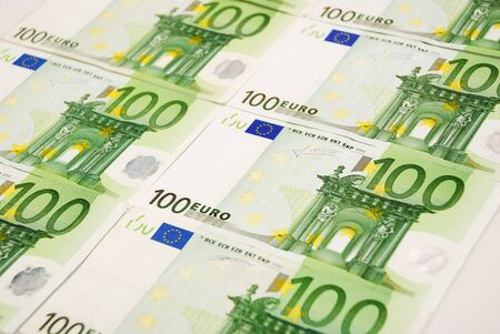 Background made of euro banknotes photo