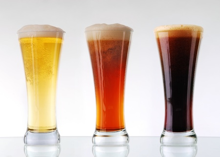 Beer collection - Three glasses of beer photo