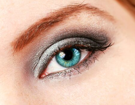 beautiful female eye with make up photo