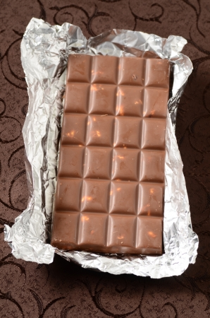 chocolate bar in tinfoil photo
