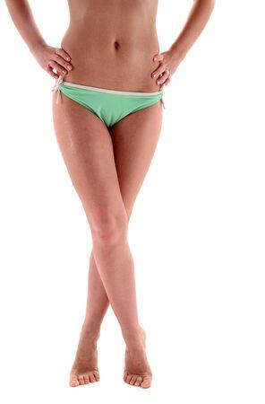 sexy woman legs on white background Stock Photo - 14322798