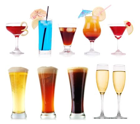 Colorful cocktails and other drinks collection photo