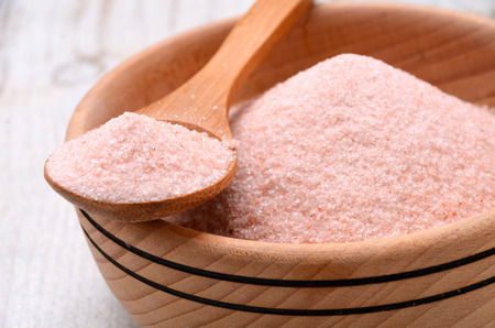 Himalayan pink crystal salt high resolution image Reklamní fotografie