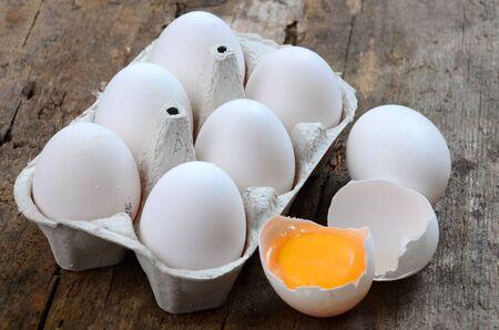 white eggs: White eggs on a wooden background