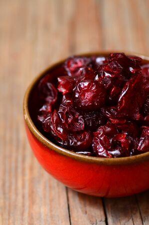 arandanos rojos: arándanos secos imagen de primer plano