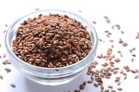organic flax seed: Close-up shot of Organic Linseed or Flax seed