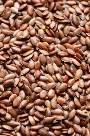 linseed: Close-up shot of Organic Linseed or Flax seed