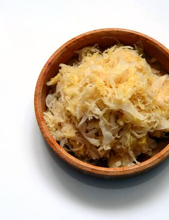 Traditional homemade sauerkraut - fermented cabbage salad
