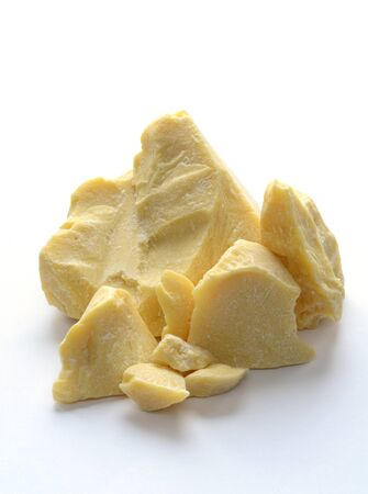 pieces of raw cocoa butter, close up shot