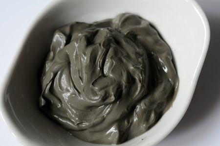 Dark grey cosmetic clay for spa treatments