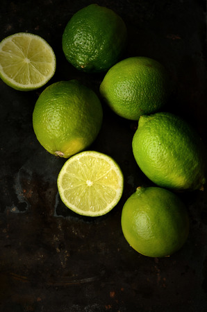 juicy: Fresh juicy limes Stock Photo