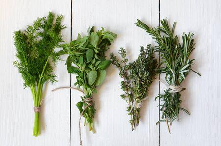 green herbs: Mixed fresh herbs, Thyme,Dill, Rosemary and Oregano