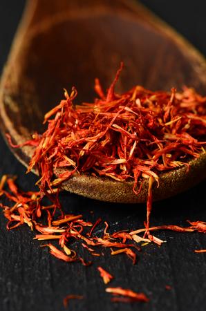 intense flavor: Spanish Saffron spice Stock Photo