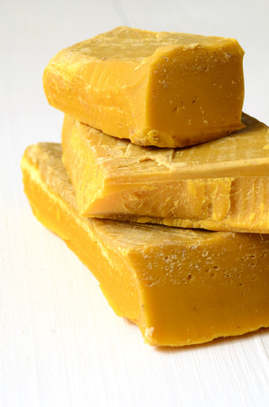 produced: Beeswax, natural wax produced by honey bees