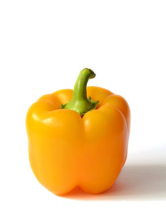Yellow Bell pepper on a white background