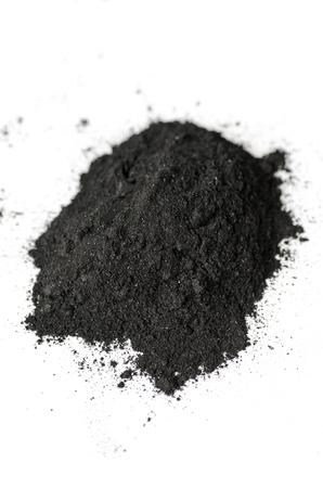 Activado tiro polvo de carbón con una lente macro Foto de archivo - 68991937