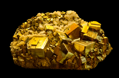 The mineral pyrite, or iron pyrite, also known as fools gold. This is a huge specimen from a mineral museum.