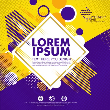 Abstract geometric design background template. Use for modern design, cover decorative, brochure, flayer and card promotion