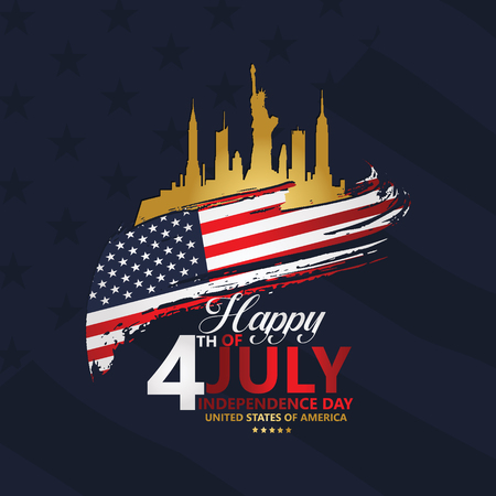 Fourth of July Independence Day, Vector illustration for greeting card and other users