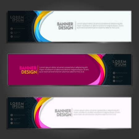 vector abstract wave geometric design banner template for publication and other users