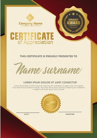 Certificate template with luxury and elegant texture modern pattern, diploma, Vector illustration Zdjęcie Seryjne - 134856269