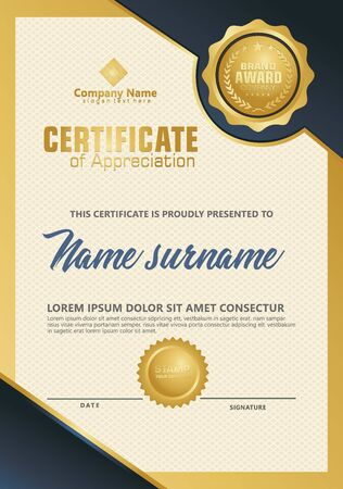 Certificate template with luxury and elegant texture modern pattern, diploma, Vector illustration Zdjęcie Seryjne - 134856278