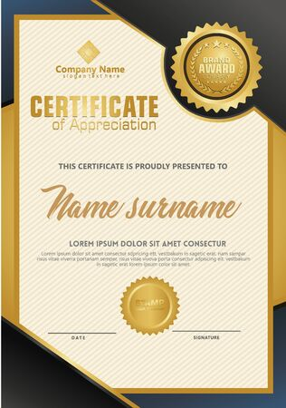 Certificate template with luxury and elegant texture modern pattern, diploma, Vector illustration Zdjęcie Seryjne - 134856396