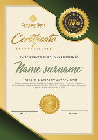 Certificate template with luxury and elegant texture modern pattern, diploma, Vector illustration Zdjęcie Seryjne - 134856410