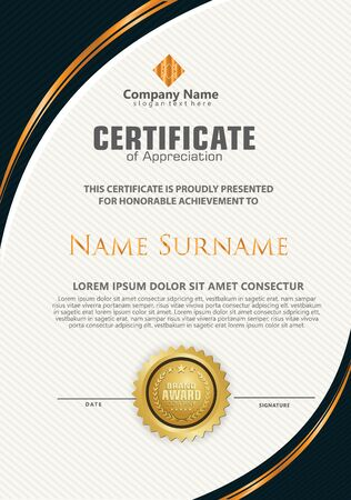 elegant and futuristic modern certificate template with texture pattern background.