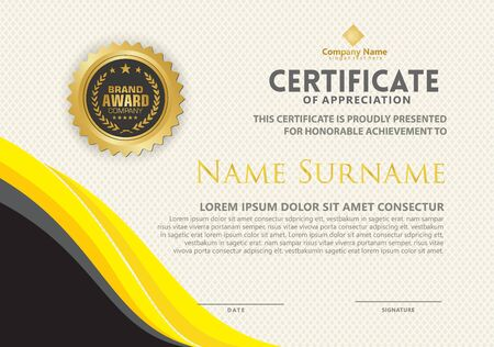 luxury and elegant modern certificate template with texture pattern background. 일러스트