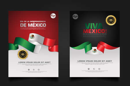 Mexico happy Independence Day background template for elements material design a poster, leaflet, brochure, flayer, cover books and others users