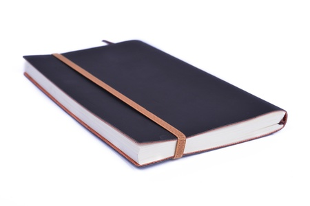 note book isolate on white background photo
