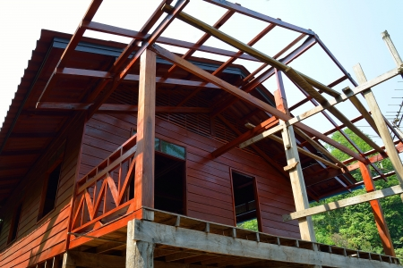 construction wooden home photo