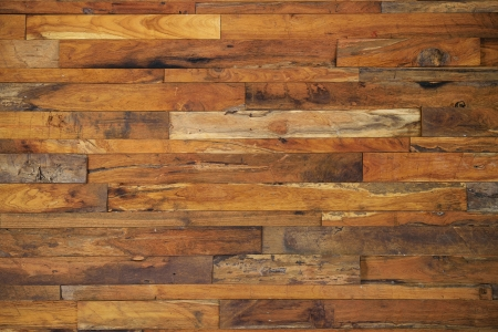 Fences: wood panels used as wall Stock Photo