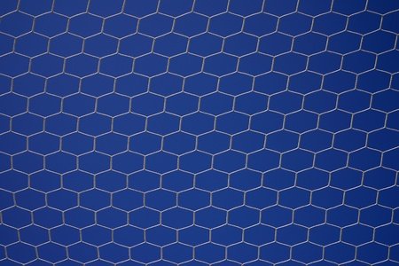 soccer net on blue sky photo