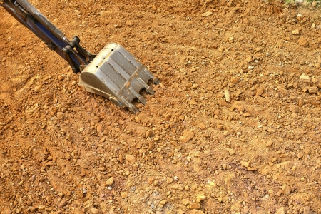 working excavator tractor photo