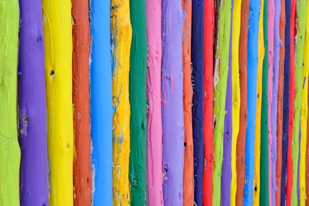 colorful wood fance background photo