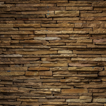 broken home: stone wall background Stock Photo